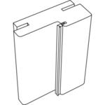 Дверная коробка ЭКОШПОН (TECHNO) 80х38 телескоп б/присадки (Дуб белый, 2 стойки и перекладина 1000мм, LR, отв.планка п/замок Morelli 1895Р SN, петли 100х70х2,5 хром 2 шт., с уплот.)