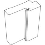 Дверная стойка 3D FLEX 70х28х2070 (для дверей б/притвора) б/присадки 44 (Белый, с уплот.)