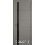 Дверное полотно К4ДО03№800*2000 стекло ультра черное (50 Ю)