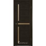 Дверное полотно GLLight 16 800*2000 дуб шоколад брон.сат.(Ю)