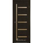 Дверное полотно GLLight 18 800*2000 дуб шоколад брон.сат.(Ю)