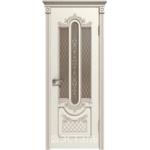 Дверное полотно 41ДО01№800*2000 патина капучино стекло бронза (Ю)