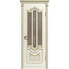 Дверное полотно 41ДО01№800х2000 патина золото стекло бронза (Ю)