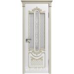 Дверное полотно 41ДО0№800*2000 патина золото стекло белое (Ю)
