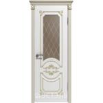 Дверное полотно 42ДО0№800х2000 патина золото стекло бронза