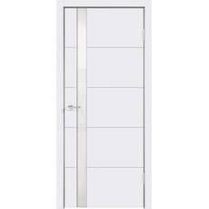 Полотно эмаль SCANDI F со стеклом Z1 без притвора (Белый RAL9003, 600х2000, LR, врезка п/з Morelli 1895Р SN, б/пр. п/петли, стекло Лакобель белое, б/отв. п/фурнитуру)