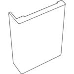 Наличник SoftTouch телескопический L (Ясень белый структурный, 70х25х2200)