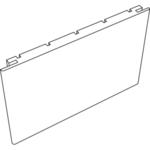 Добор SoftTouch телескопический (Ясень графит структурный, 100х10х2150)
