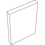 Наличник 3D Flex плоский (Белый, 70х 8х2200)