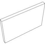 Добор 3D Flex (Белый, 150х 8х2100, укутка с 3 сторон)