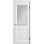 Дверное полотно К2ДО0№800*2000 стекло бел.сат.с гравир. (56 Ю)