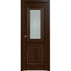 Дверь Орех АМАРИ №28 Х стекло узор 2000*800 золото