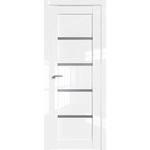 Дверь Белый люкс № 2.09 L стекло графит 2000*800