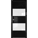 Дверь 10 VG Черный глянец белый лак 2000*800 (190) кромка с 4-х сторон хром Eclipse