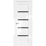 Дверь Белый люкс № 2.09 L триплекс черный 2000*800