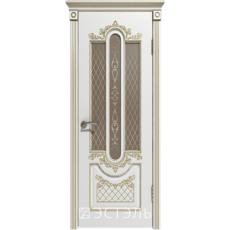 Дверное полотно 41ДО0№800*2000 патина золото стекло бронза (Ю)
