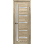 Дверное полотно GLLight 18 800*2000 дуб мокко бел.сат. (Ю)